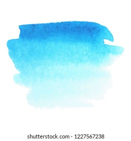 Abstract art hand paint isolated Watercolor stain on white background.