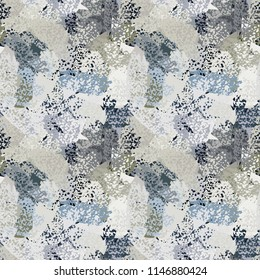 Abstract art seamless pattern. Background texture. Paint spots. Distressed, grunge print