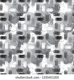 Abstract art seamless pattern. Repeating background texture. Paint spots. Distressed, grunge print
