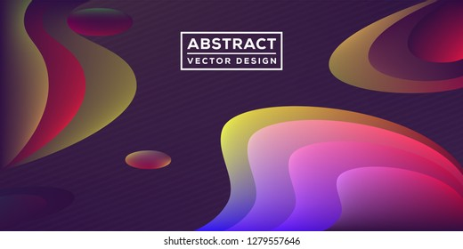 Abstract artistic background with colorful paint circles and splashes