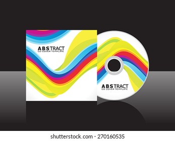 abstract artistic colorful cd cover template vector illustration