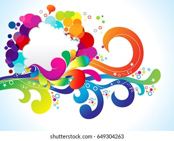 abstract artistic colorful explode vector illustration