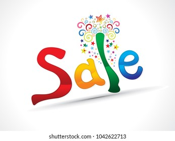 abstract artistic creative colorful sale text vector illustration