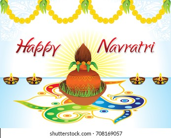 abstract artistic creative detailed navratri background vector illustration