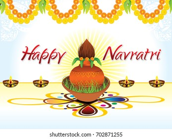 abstract artistic creative navratri background vector illustration