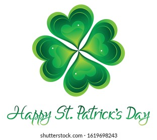 abstract artistic creative st patricks background vector illustration