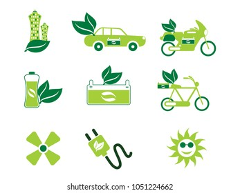 abstract artistic eco icons vector illustration