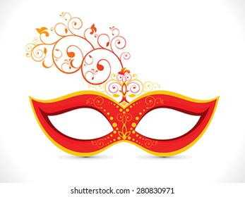 abstract artistic floral red mask vector illustration