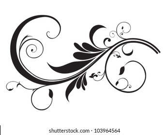 abstract artistic floral template vector illustration