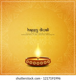 Abstract artistic Happy Diwali greeting background