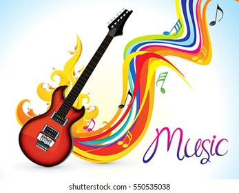 abstract artistic music background vector illustration