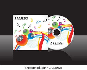 abstract artistic musical cd cover template vector illustration