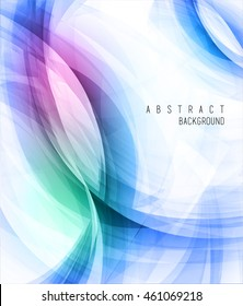abstract artistic vector backgrounds with light colorful waves