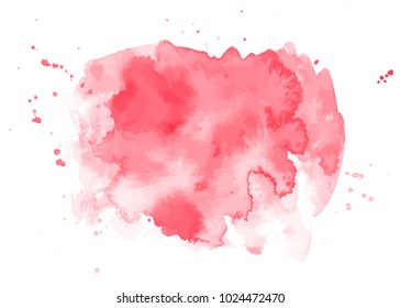 An abstract artistic vibrant pink watercolor background texture, scalable vector graphic with a place for text