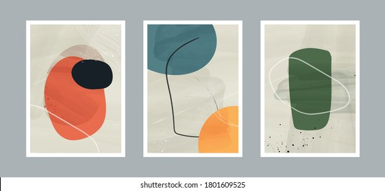 Abstract arts background with different shapes for wall decoration, postcard or brochure cover design. Vector  illustrations design.