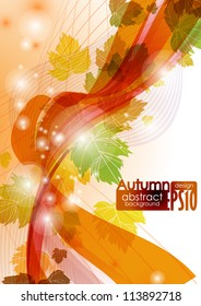 Abstract autumn background. Vector illustration. Eps 10.