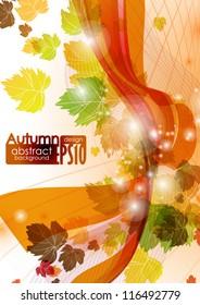 Abstract autumn background. Vector illustration. Eps 10.