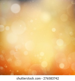 Abstract autumn defocused gold background. EPS 10 vector file included