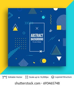 Abstract avangarde retro background. Vector multicolored geometric shapes.