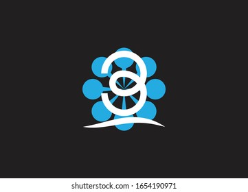 Abstract B letter logo design