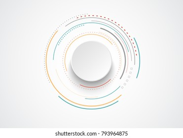 Abstract bacgkround with circles. Vector design element.