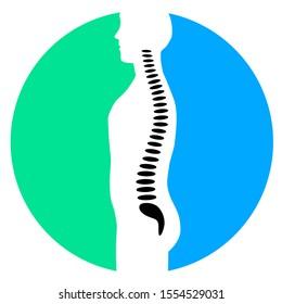abstract backbone ache vector illustration