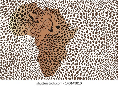 Abstract background of the african cheetah
