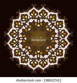Abstract background. Arabesque Background with Islamic Ornate element for design. Floral oriental decor. Arabic geometric texture. Vector illustration.