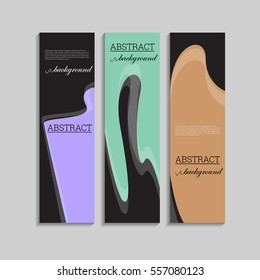 Abstract background banners design template. Illustration, Vector eps10.