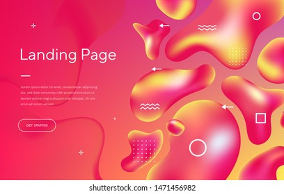 Abstract background with beautiful liquid fluid for cosmetics cream posters, business placards, covers and brochures. Eps10 vector illustration