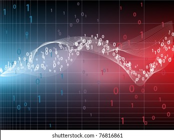 Abstract background with binary code - the concept of information