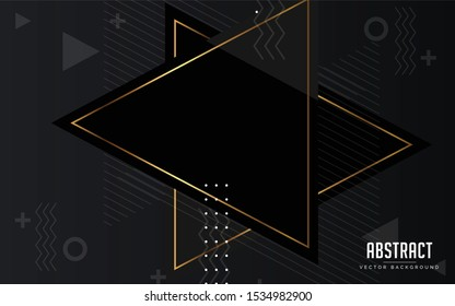 abstract background black and grey and gold color modern design
