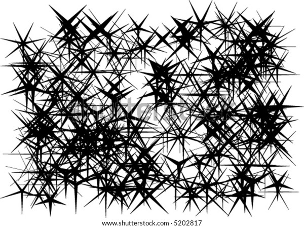 Abstract background - black snowflakes (vector)