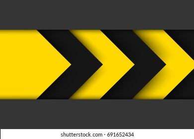Abstract background. Black yellow corporate tech art. Vector material background