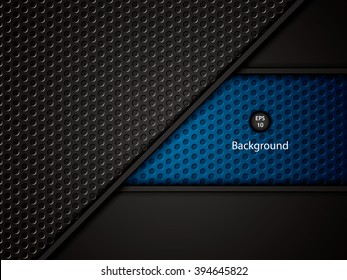 Abstract background, blue brochure, vector
