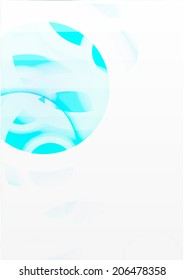 Abstract background with blue circles. Vector