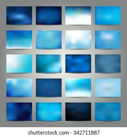 Abstract background - blue color, vector illustration
