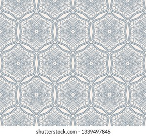 Abstract background. Blue geometric seamless pattern in modern stylish. Vector seamless pattern