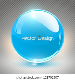 Abstract background with blue glass balls as vector speech bubble