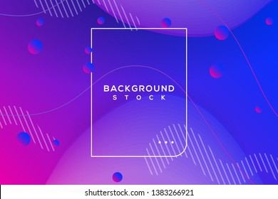 abstract background with blue gradient. curvy, wavy, fluid, flowing, irregular shapes. suitable for background, landing page, wallpaper, home screen, theme. vector eps 10