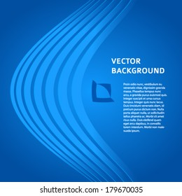 Abstract background blue light lines. Vector illustration EPS 10. Can use for business card, leaflet layout, web design, banner template, cover magazine page, advertising brochure design elements
