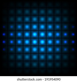 Abstract background with blue lights