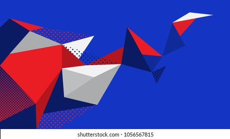 abstract background blue red white