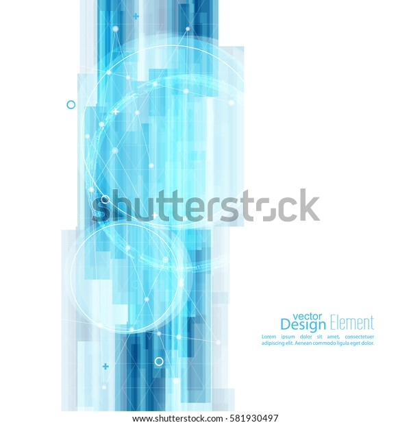 Abstract background with blue stripes corner. New technology and dynamic motion.