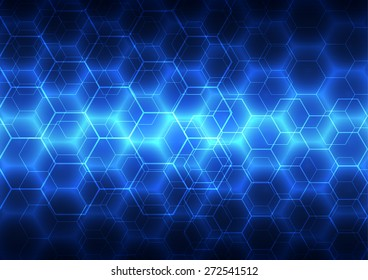 Abstract background blue technology, vector illustration