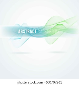 Abstract background with blue waves.