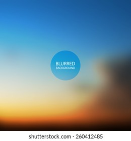 Abstract Background - Blurred Image - Sunset in Australia