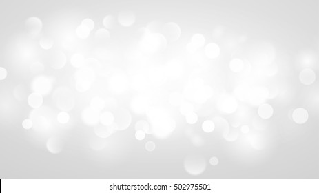 Abstract background with bokeh effect. Blurred defocused lights in white colors