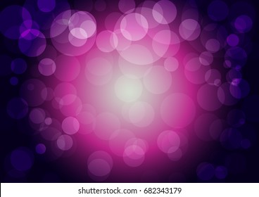 Abstract background with bokeh effect. Template of blurred defocused lights. For greeting, invitation card, banner and poster to celebrate on holiday season in vector illustration.