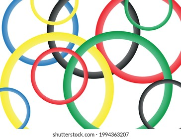 Abstract background with bright rainbow colorful lines. Colored circles , abstract background with circles